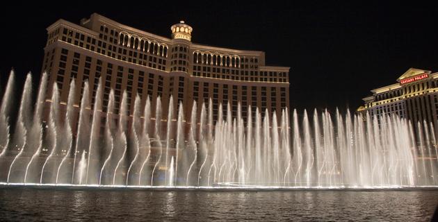 Espectaculos nocturnos en Las Vegas